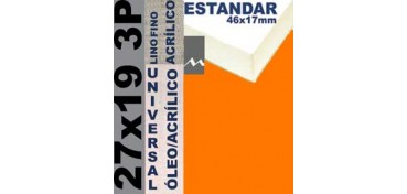 BASTIDOR ESTUDIO 46 X 17 LINO Nº1 (GRANO FINO) 27 X 19 3P (ÓLEO/ACRÍLICO)