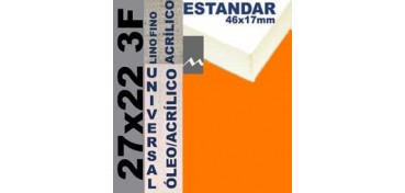 BASTIDOR ESTUDIO 46 X 17 LINO Nº1 (GRANO FINO) 27 X 22 3F (ÓLEO/ACRÍLICO)