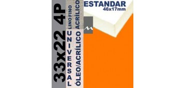 BASTIDOR ESTUDIO 46 X 17 LINO Nº1 (GRANO FINO) 33 X 22 4P (ÓLEO/ACRÍLICO)