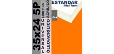 BASTIDOR ESTUDIO 46 X 17 LINO Nº1 (GRANO FINO) 35 X 24 5P (ÓLEO/ACRÍLICO)