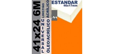 BASTIDOR ESTUDIO 46 X 17 LINO Nº1 (GRANO FINO) 41 X 24 6M (ÓLEO/ACRÍLICO)