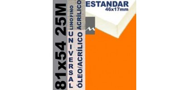 BASTIDOR ESTUDIO 46 X 17 LINO Nº1 (GRANO FINO) 81 X 54 25M (ÓLEO/ACRÍLICO)