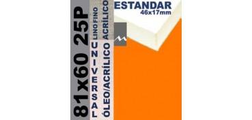 BASTIDOR ESTUDIO 46 X 17 LINO Nº1 (GRANO FINO) 81 X 60 25P (ÓLEO/ACRÍLICO)