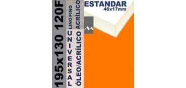 BASTIDOR ESTUDIO 46 X 17 LINO Nº1 (GRANO FINO) 195 X 130 120F (ÓLEO/ACRÍLICO)