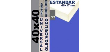 BASTIDOR ESTUDIO 46 X 17 LINO Nº1 (GRANO FINO) 40 X 40 (ÓLEO/ACRÍLICO)