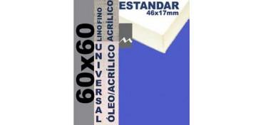 BASTIDOR ESTUDIO 46 X 17 LINO Nº1 (GRANO FINO) 60 X 60 (ÓLEO/ACRÍLICO)