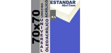 BASTIDOR ESTUDIO 46 X 17 LINO Nº1 (GRANO FINO) 70 X 70 (ÓLEO/ACRÍLICO)