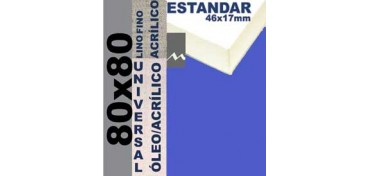 BASTIDOR ESTUDIO 46 X 17 LINO Nº1 (GRANO FINO) 80 X 80 (ÓLEO/ACRÍLICO)