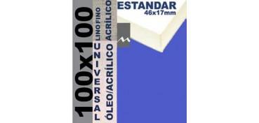 BASTIDOR ESTUDIO 46 X 17 LINO Nº1 (GRANO FINO) 100 X 100 (ÓLEO/ACRÍLICO)