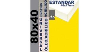 BASTIDOR ESTUDIO 46 X 17 LINO Nº1 (GRANO FINO) 80 X 40 (ÓLEO/ACRÍLICO)