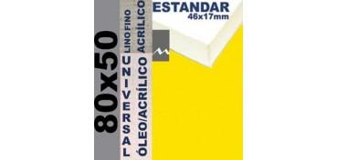 BASTIDOR ESTUDIO 46 X 17 LINO Nº1 (GRANO FINO) 80 X 50 (ÓLEO/ACRÍLICO)