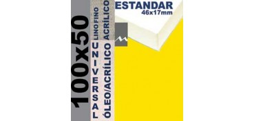 BASTIDOR ESTUDIO 46 X 17 LINO Nº1 (GRANO FINO) 100 X 50 (ÓLEO/ACRÍLICO)