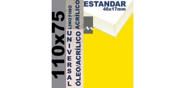 BASTIDOR ESTUDIO 46 X 17 LINO Nº1 (GRANO FINO) 110 X 75 (ÓLEO/ACRÍLICO)