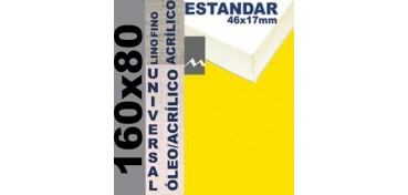 BASTIDOR ESTUDIO 46 X 17 LINO Nº1 (GRANO FINO) 160 X 80 (ÓLEO/ACRÍLICO)