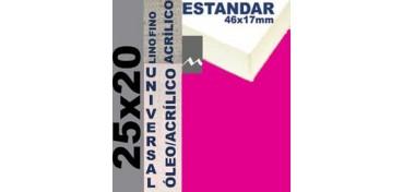 BASTIDOR ESTUDIO 46 X 17 LINO Nº1 (GRANO FINO) 25 X 20 (ÓLEO/ACRÍLICO)