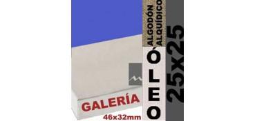 BASTIDOR GALERÍA 3D 46 X 32 ALGODÓN Nº2 (GRANO FINO) 25 X 25 (ÓLEO)