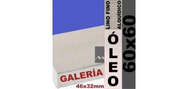 BASTIDOR GALERÍA 3D 46 X 32 LINO Nº1 (GRANO FINO) 60 X 60 (ÓLEO)
