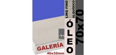 BASTIDOR GALERÍA 3D 46 X 32 LINO Nº1 (GRANO FINO) 70 X 70 (ÓLEO)