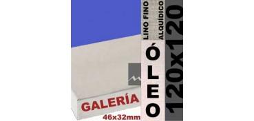 BASTIDOR GALERÍA 3D 46 X 32 LINO Nº1 (GRANO FINO) 120 X 120 (ÓLEO)