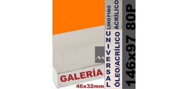 BASTIDOR GALERÍA 3D 46 X 32 LINO Nº1 (GRANO FINO) 146 X 97 80P (ÓLEO/ACRÍLICO)