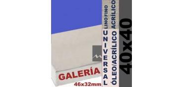 BASTIDOR GALERÍA 3D 46 X 32 LINO Nº1 (GRANO FINO) 40 X 40 (ÓLEO/ACRÍLICO)