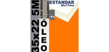 BASTIDOR ESTUDIO 46 X 17 LINO Nº3 (GRANO MEDIO) 35 X 22 5M (ÓLEO)