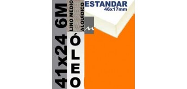 BASTIDOR ESTUDIO 46 X 17 LINO Nº3 (GRANO MEDIO) 41 X 24 6M (ÓLEO)