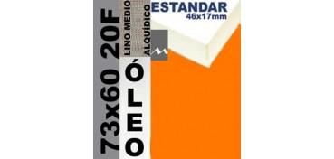 BASTIDOR ESTUDIO 46 X 17 LINO Nº3 (GRANO MEDIO) 73 X 60 20F (ÓLEO)
