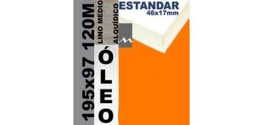 BASTIDOR ESTUDIO 46 X 17 LINO Nº3 (GRANO MEDIO) 195 X 97 120M (ÓLEO)