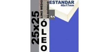 BASTIDOR ESTUDIO 46 X 17 LINO Nº3 (GRANO MEDIO) 25 X 25 (ÓLEO)