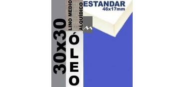 BASTIDOR ESTUDIO 46 X 17 LINO Nº3 (GRANO MEDIO) 30 X 30 (ÓLEO)