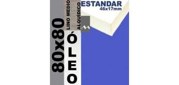 BASTIDOR ESTUDIO 46 X 17 LINO Nº3 (GRANO MEDIO) 80 X 80 (ÓLEO)