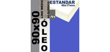 BASTIDOR ESTUDIO 46 X 17 LINO Nº3 (GRANO MEDIO) 90 X 90 (ÓLEO)