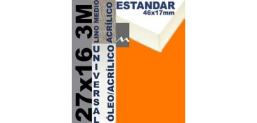 BASTIDOR ESTUDIO 46 X 17 LINO Nº3 (GRANO MEDIO) 27 X 16 3M (ÓLEO/ACRÍLICO)