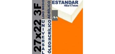 BASTIDOR ESTUDIO 46 X 17 LINO Nº3 (GRANO MEDIO) 27 X 22 3F (ÓLEO/ACRÍLICO)