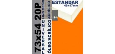 BASTIDOR ESTUDIO 46 X 17 LINO Nº3 (GRANO MEDIO) 73 X 54 20P (ÓLEO/ACRÍLICO)