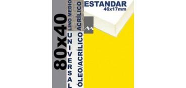 BASTIDOR ESTUDIO 46 X 17 LINO Nº3 (GRANO MEDIO) 80 X 40 (ÓLEO/ACRÍLICO)