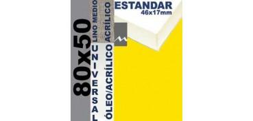 BASTIDOR ESTUDIO 46 X 17 LINO Nº3 (GRANO MEDIO) 80 X 50 (ÓLEO/ACRÍLICO)