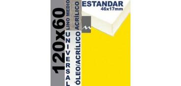 BASTIDOR ESTUDIO 46 X 17 LINO Nº3 (GRANO MEDIO) 120 X 60 (ÓLEO/ACRÍLICO)