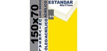 BASTIDOR ESTUDIO 46 X 17 LINO Nº3 (GRANO MEDIO) 150 X 70 (ÓLEO/ACRÍLICO)