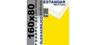BASTIDOR ESTUDIO 46 X 17 LINO Nº3 (GRANO MEDIO) 160 X 80 (ÓLEO/ACRÍLICO)