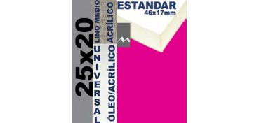 BASTIDOR ESTUDIO 46 X 17 LINO Nº3 (GRANO MEDIO) 25 X 20 (ÓLEO/ACRÍLICO)