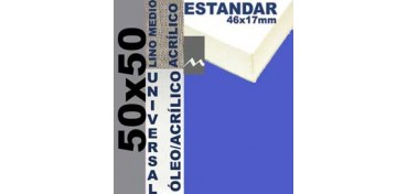 BASTIDOR ESTUDIO 46 X 17 LINO Nº3 (GRANO MEDIO) 50 X 50 (ÓLEO/ACRÍLICO)
