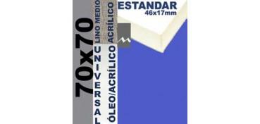 BASTIDOR ESTUDIO 46 X 17 LINO Nº3 (GRANO MEDIO) 70 X 70 (ÓLEO/ACRÍLICO)