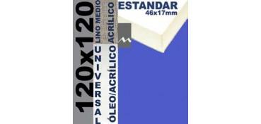 BASTIDOR ESTUDIO 46 X 17 LINO Nº3 (GRANO MEDIO) 120 X 120 (ÓLEO/ACRÍLICO)