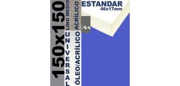 BASTIDOR ESTUDIO 46 X 17 LINO Nº3 (GRANO MEDIO) 150 X 150 (ÓLEO/ACRÍLICO)