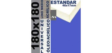 BASTIDOR ESTUDIO 46 X 17 LINO Nº3 (GRANO MEDIO) 180 X 180 (ÓLEO/ACRÍLICO)
