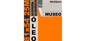 BASTIDOR MUSEO 60 X 22 ALGODÓN Nº2 (GRANO FINO) 81 X 54 25M (ÓLEO)