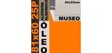 BASTIDOR MUSEO 60 X 22 ALGODÓN Nº2 (GRANO FINO) 81 X 60 25P (ÓLEO)