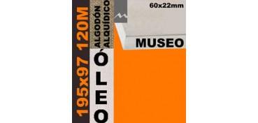 BASTIDOR MUSEO 60 X 22 ALGODÓN Nº2 (GRANO FINO) 195 X 97 120M (ÓLEO)